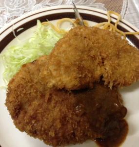 富士ランチ魚フライトメンチ