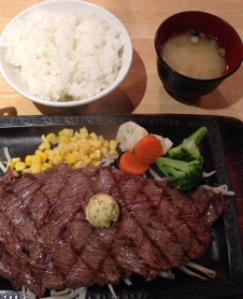 まるりステーキ定食