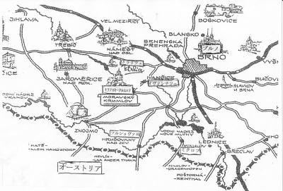 モラフスキー・クルムロフ周辺地図