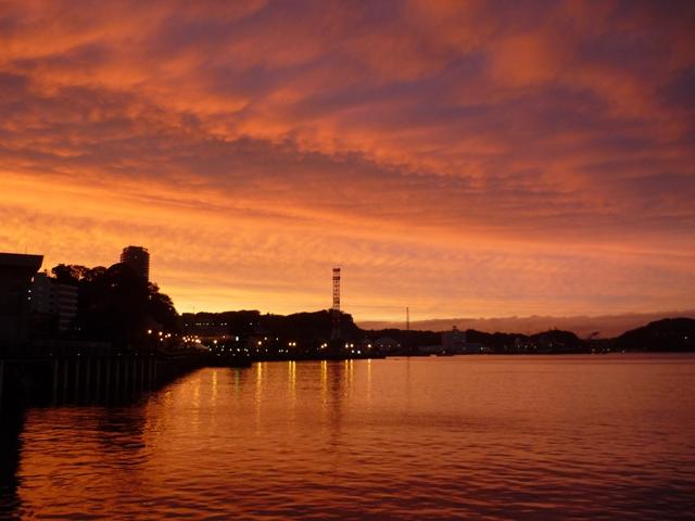 軍港の落日