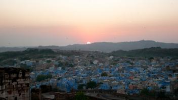 Sunset at Blue City