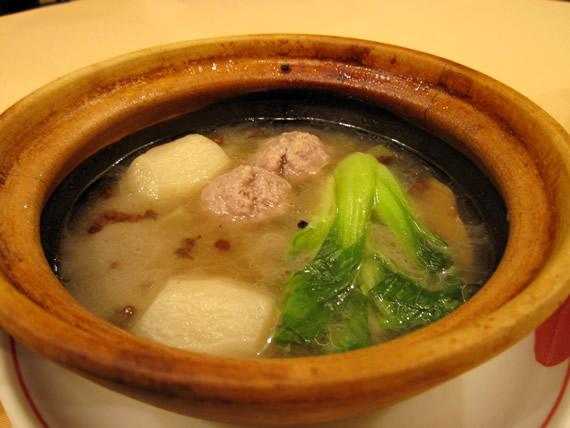 ふかひれ入り大根スープ