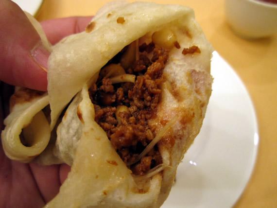 ひき肉の春餅(チュンピン)包み3