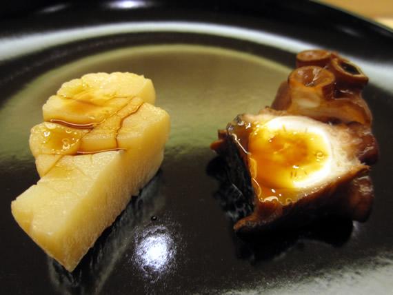 貝柱、蛸桜煮