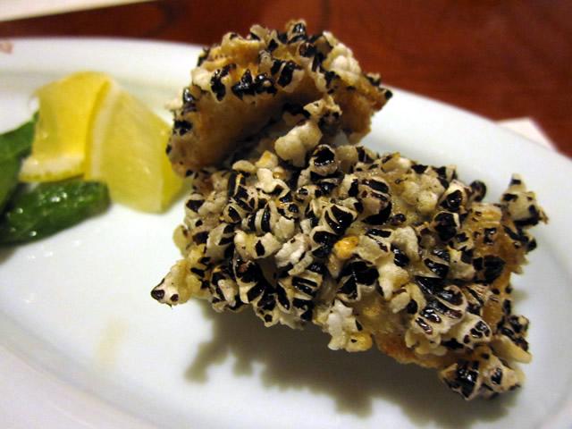 甘鯛赤米揚げ