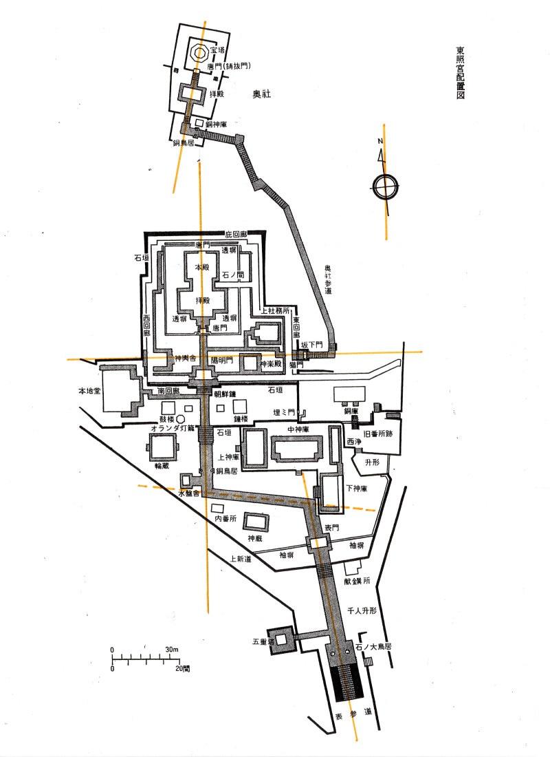 東照宮配置図