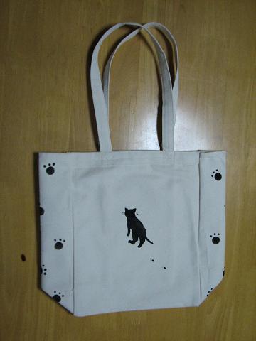 ポケット付き猫トート 006