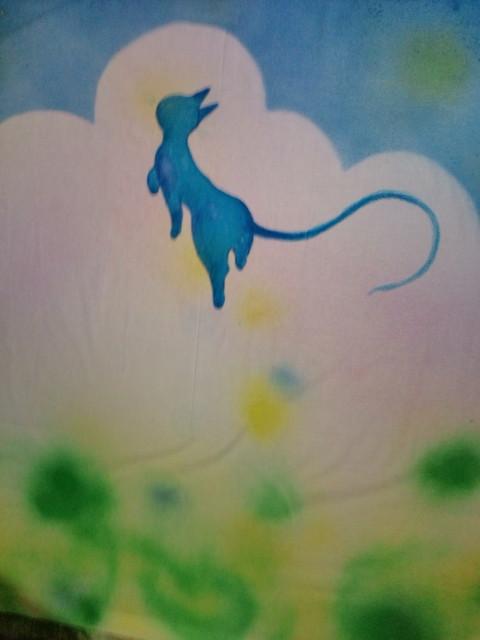 しあわせの青い猫 017