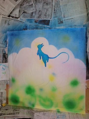 しあわせの青い猫 014