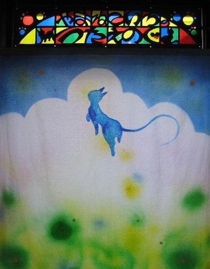 夜の青い猫