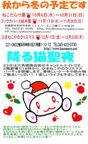 降る猫クリスマス