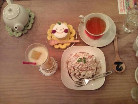 さとゆさんとお茶 001