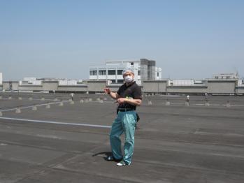 工場の屋上です