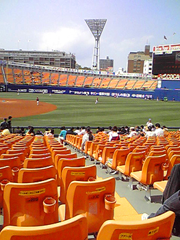 なかなかキレイな横浜スタジアム。