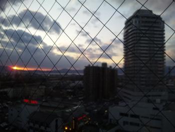 出張先のホテルからの眺めの画像です。