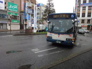 行田団地行きのバスが来ました。