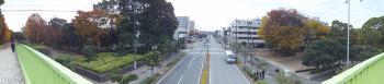 行田公園の西側と東側を結ぶ陸橋の上から撮影。