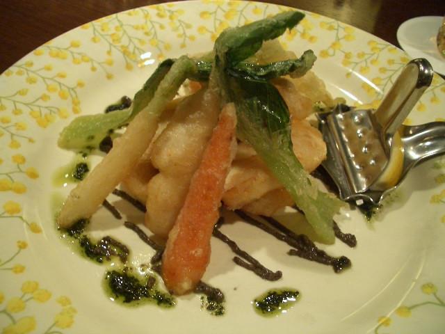 鮮魚と野菜のフリット 236