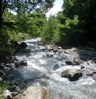 富士川町…川。