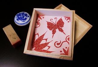 飾り桐箱~和紙切絵~
