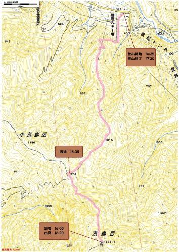 荒島岳登山地図