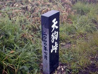 天狗峠 石