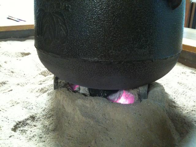 囲炉裏の火2