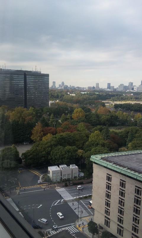 帝国ホテル窓の景色