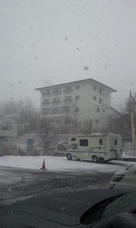 草津町 吹雪