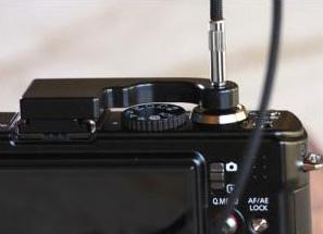 リチャード フラニエック LX3/LX5/D-Lux5/D-Lux4用 ケーブルリリースアダプター
