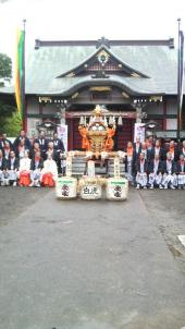 神輿当番町記念撮影