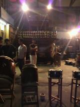 囃子練習は橋向の山車小屋で行っています