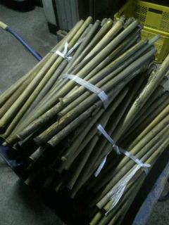 油抜きした竹は若干青みが抜けます