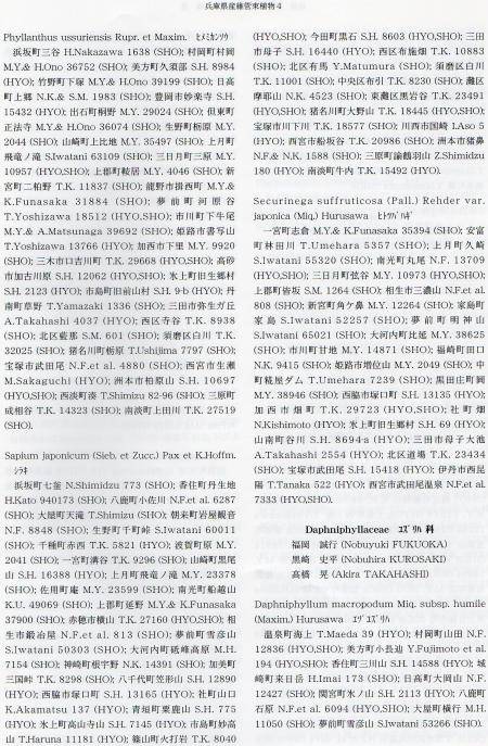 兵庫県産維管束植物4 179ページ