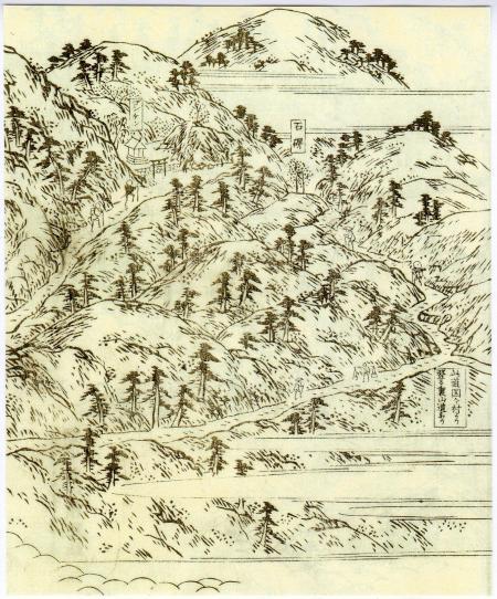 江戸時代の山を描いた絵図