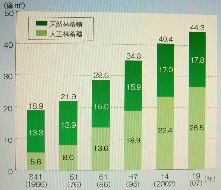森林資源量の推移