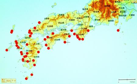 シマサルナシの分布