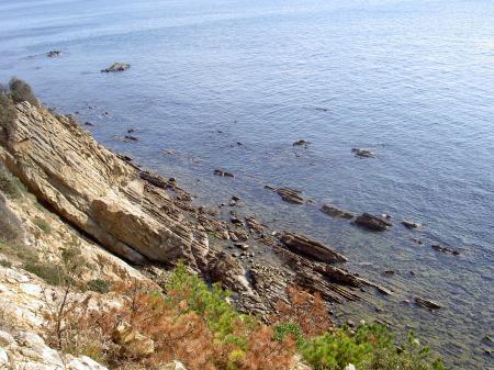 海食崖の発達する自然海岸
