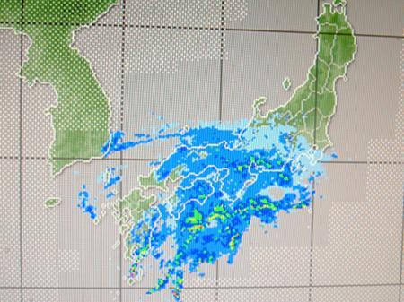 2012年1月19日20時40分のレーダー降水画像
