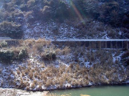 2012年2月19日午後1時 南あわじ市賀集牛内ダムにて