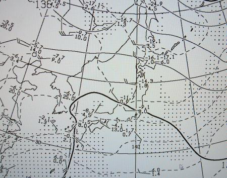2012年2月28日09時 850hPa高度・気温