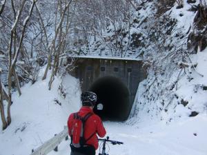 やっと最初のトンネル