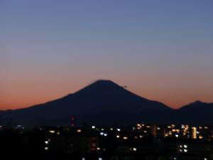 夕日のお山