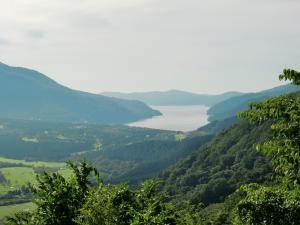 上からの芦ノ湖