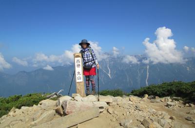 ▲西穂高岳(標高2909m)|長野県・岐阜県|2013/08/15|日帰り登山【丸山】