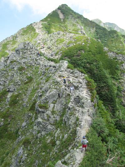 ▲西穂高岳(標高2909m)|長野県・岐阜県|2013/08/15|日帰り登山【独標から西穂高岳へ】