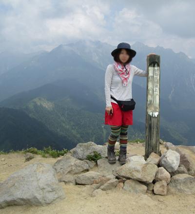 ▲焼岳(標高2455m)|長野県・岐阜県【焼岳|北峰】|新中の湯ルート