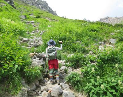 ▲焼岳(標高2455m)|長野県・岐阜県【焼岳】|新中の湯ルート