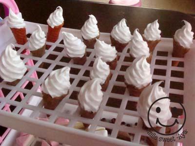 ソフトクリーム乾燥中