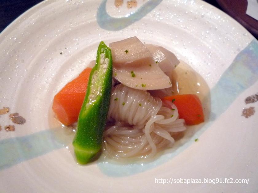 24.手打ち蕎麦 銀杏 (根菜のお浸し)